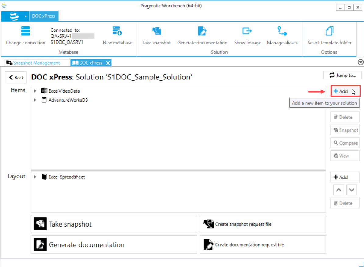 DOC xPress Solution Configuration Tool Add Solution Item