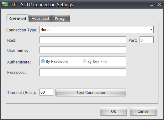 Task Factory Secure FTP Connection Manager General By Password