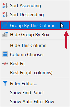 SentryOne Distributed Queries Group By This Column context menu