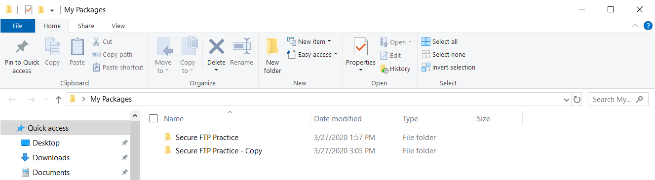 Task Factory Existing package copied