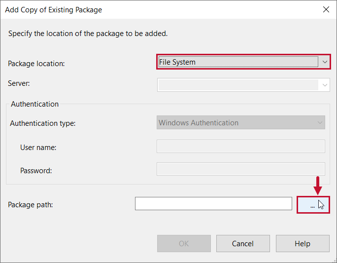 Task Factory Add Copy of Existing package window