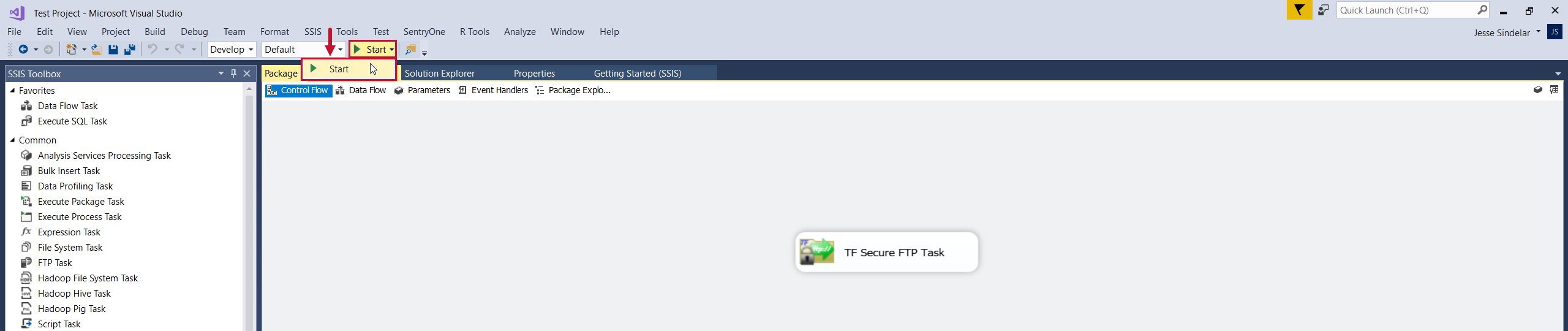 Task Factory Execute your copied package with the new version of Task Factory