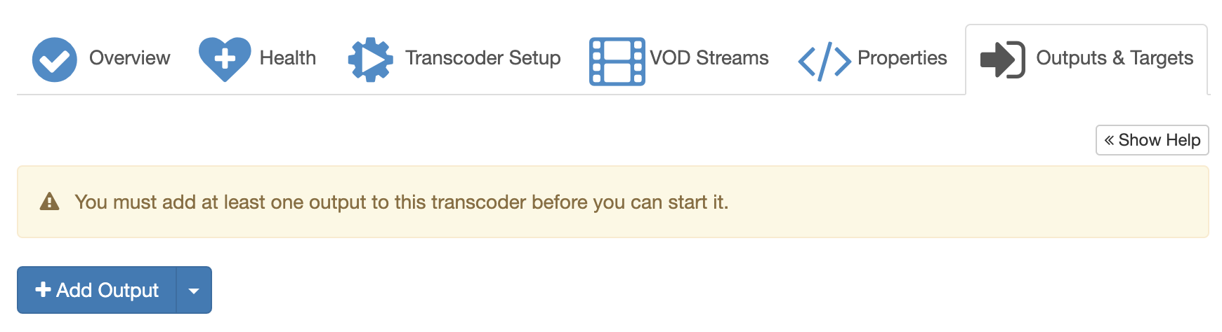 Empty output for transcoder