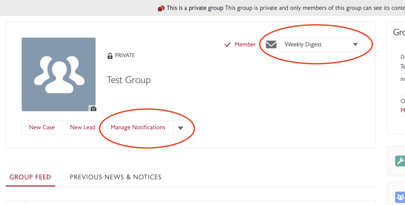 MyWharton Manage Group Notifications