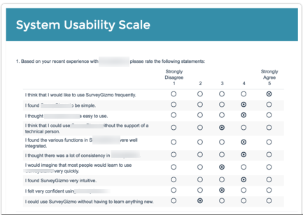 System Usability Scale (SUS)