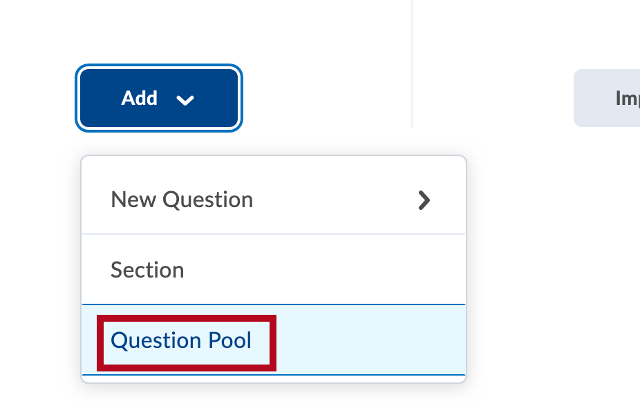 Identifies Question Pool