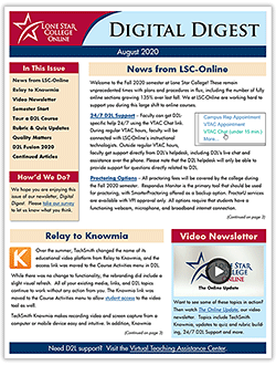 Cover page of Digital Digest Newsletter