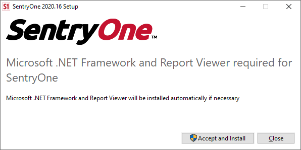 SentryOne Setup Wizard Accept and Install