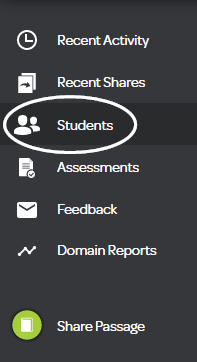 Students icon in your dashboard