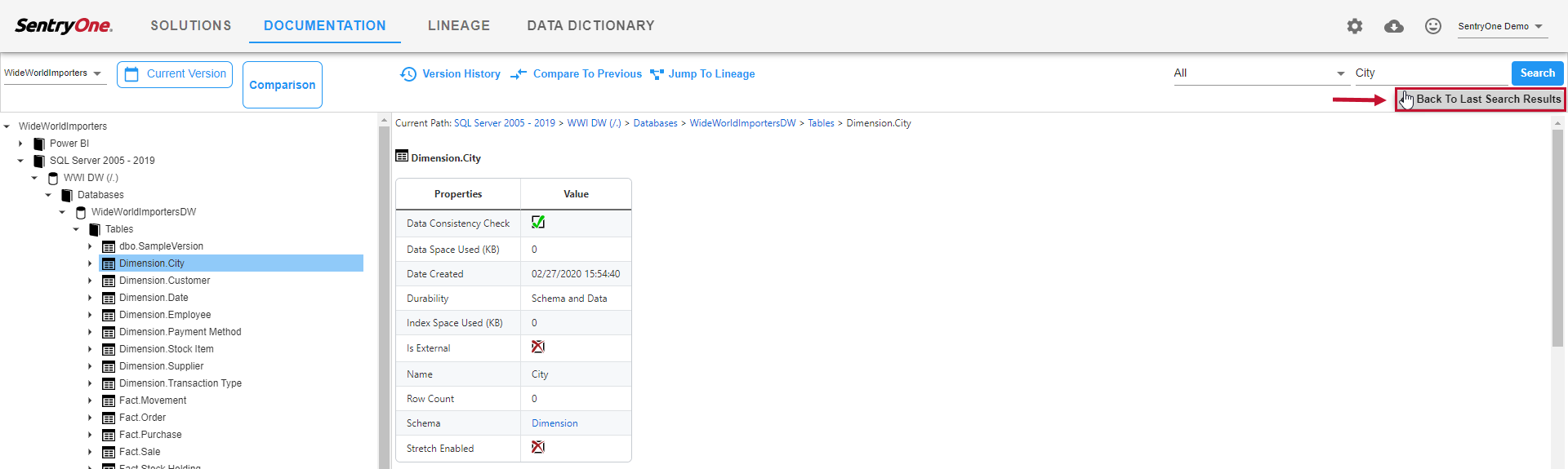 SentryOne Document Documentation Back to Last Search Results