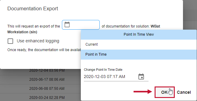 SentryOne Document Documentation Export window select OK