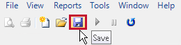 SQL Sentry toolbar highlighting the Save button.
