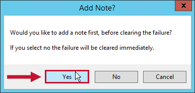 SQL Sentry Add Note? window prompting you to add a note with the Yes option highlighted.